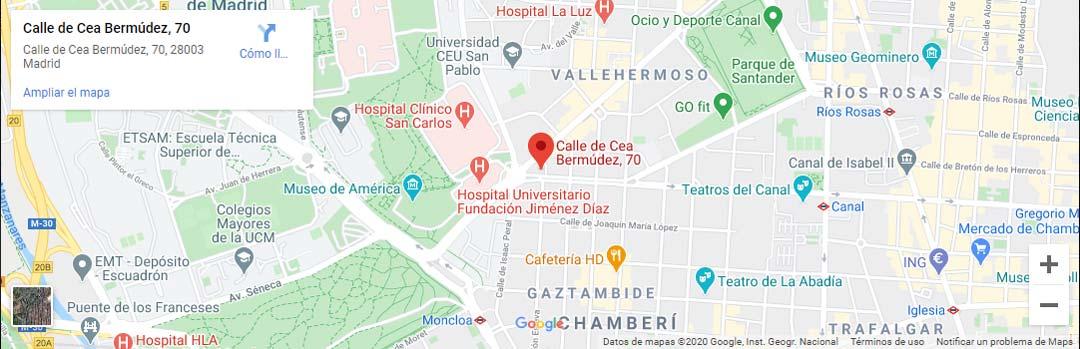 Mapa Dirección Chus Morante